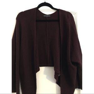 Brandy Melville Burgundy Knit Cardigan
